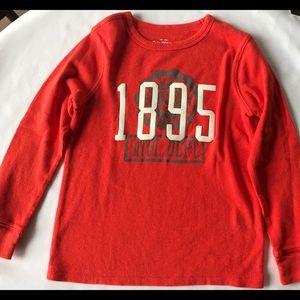 Boys OshKosh Sz 6 Orange Long Sleeve T.Shirt